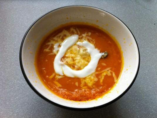 gotowa zupka z dynii